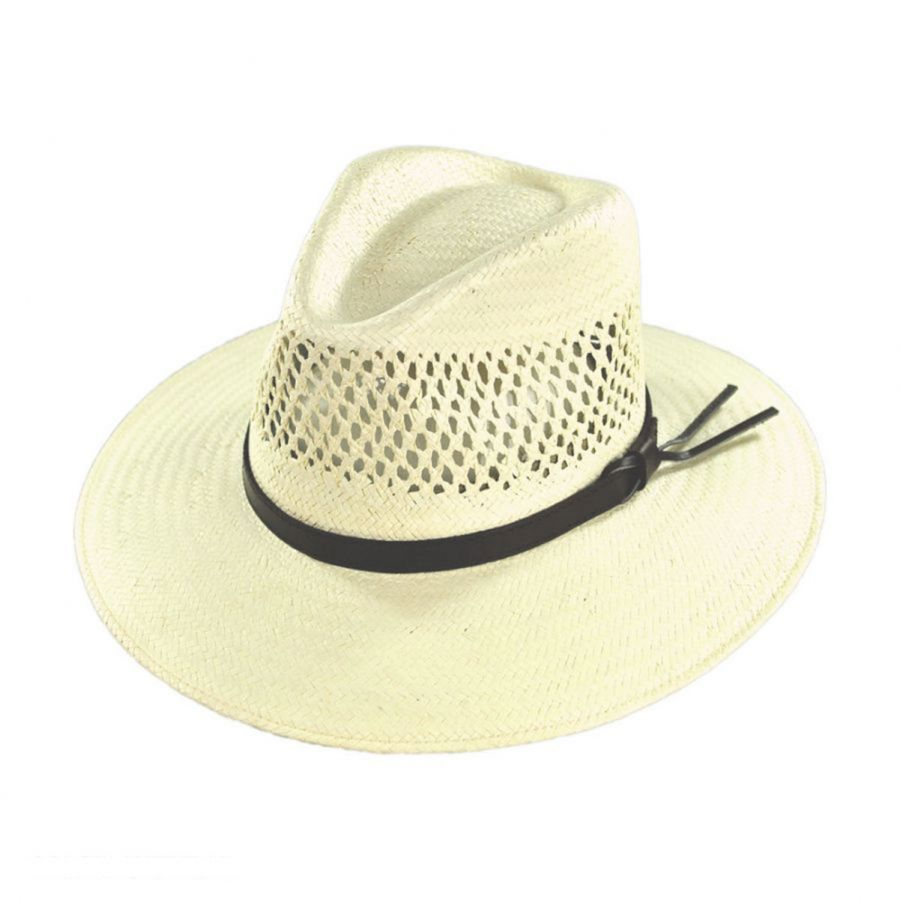 aa58f146256 Stetson Digger Shantung Straw Outback Hat Western Hats