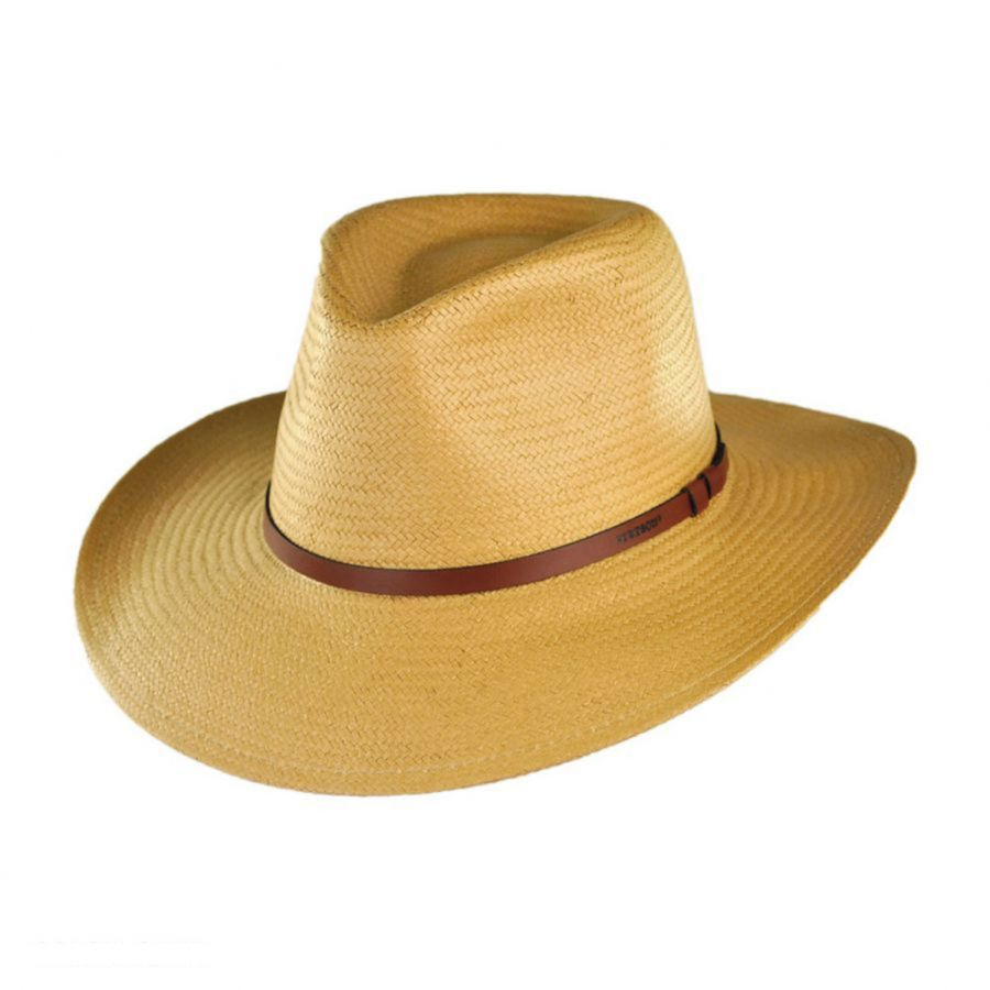 7d8570d5fdc016 Stetson Limestone Toyo Straw Outback Hat Western Hats