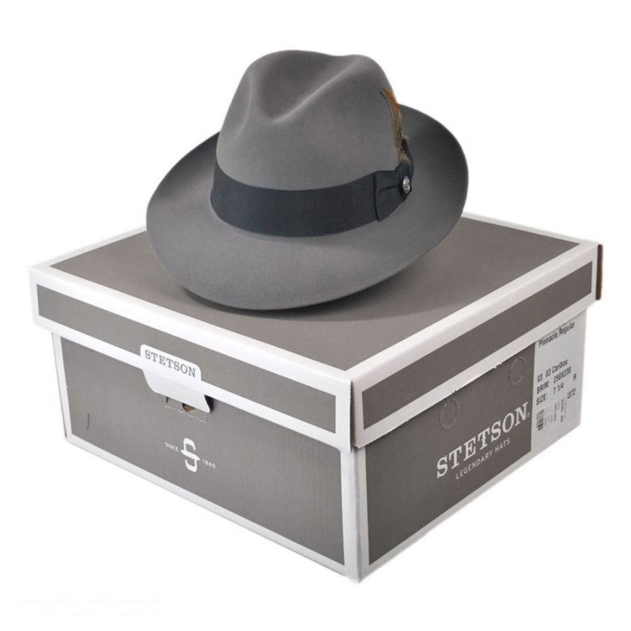 Stetson Pinnacle Beaver Fur Felt Fedora Hat All Fedoras c07dfb9f477