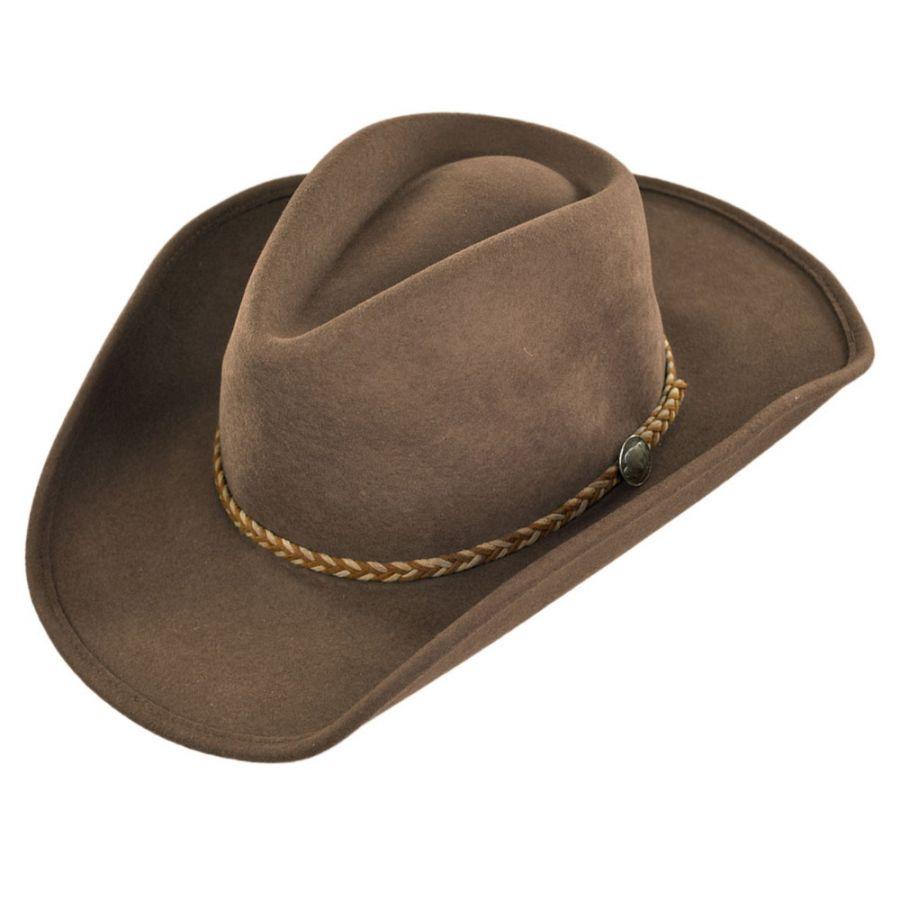 Stetson Rawhide Buffalo Fur Felt Western Hat Western Hats 3f640b34ec