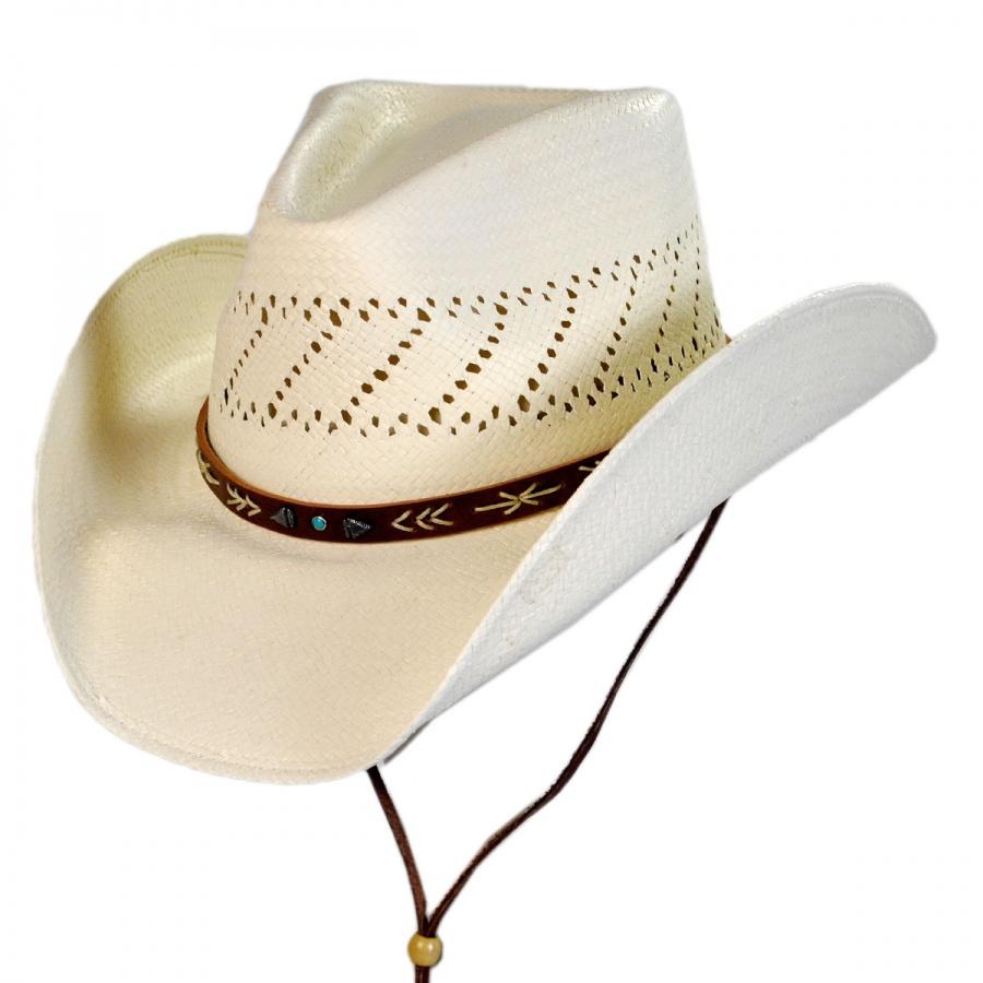 Stetson Santa Fe Shantung Straw Cowboy Hat Straw Hats f9aedf16246