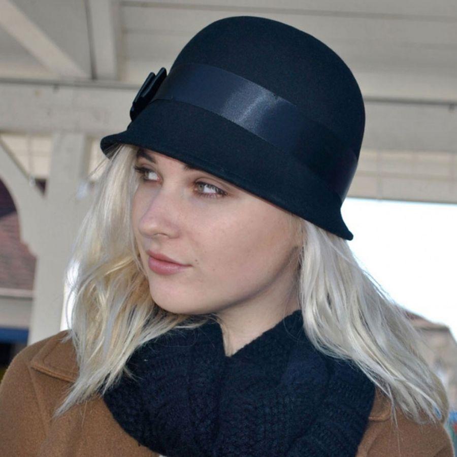 sur la tete Chloe Wool Cloche Hat Cloche   Flapper Hats 35b32a2a13