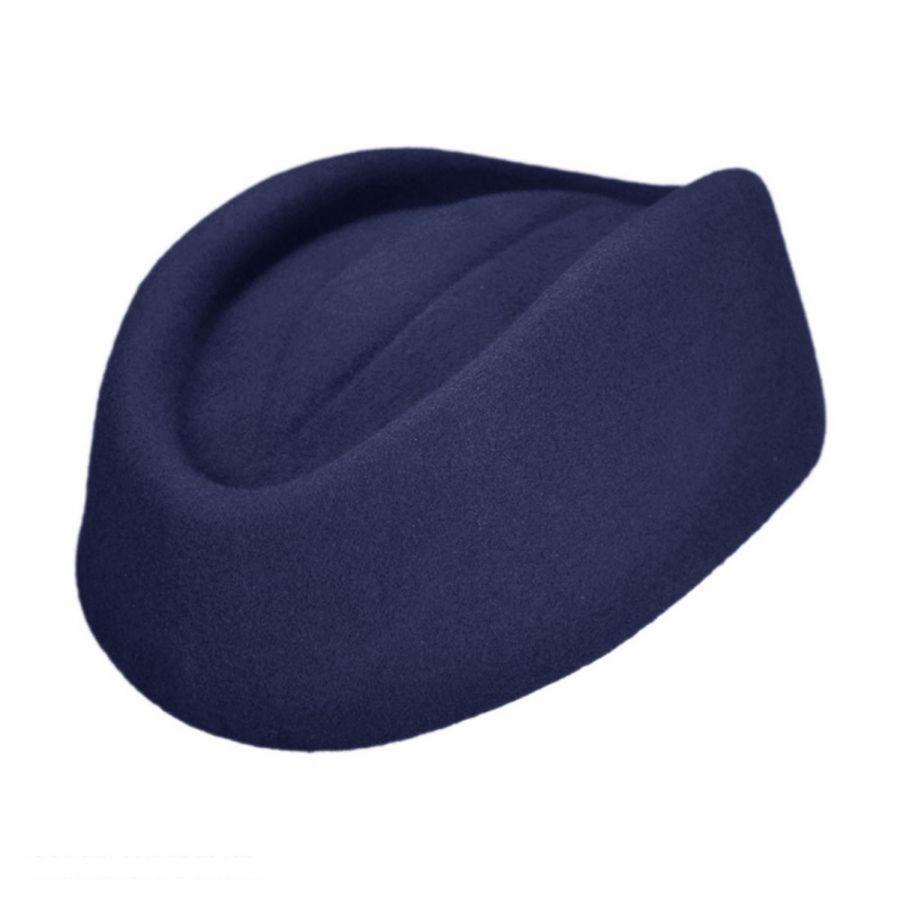 34e8fb98f0feb Stewardess Wool Pillbox Hat