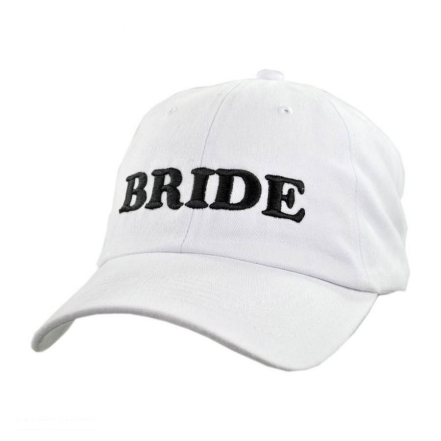 Village Hat Shop Bride Strapback Baseball Cap Dad Hat All Baseball Caps d49f1081ecb