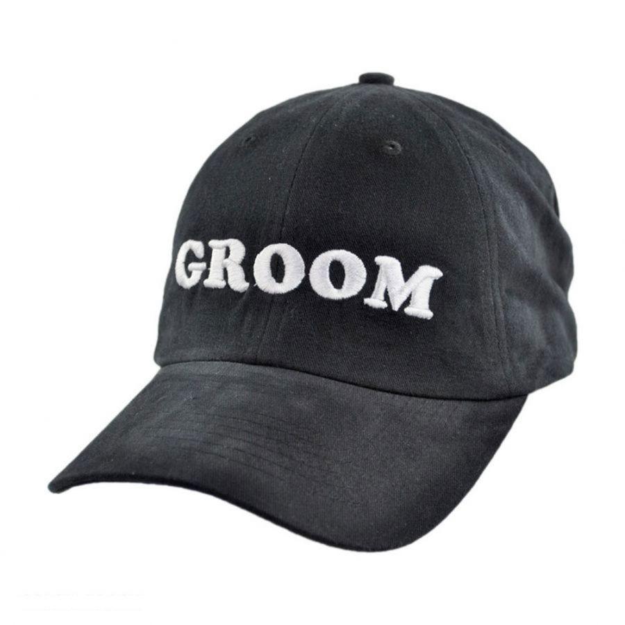 Village Hat Shop Groom Strapback Baseball Cap Dad Hat All Baseball Caps 6290beb4dcc