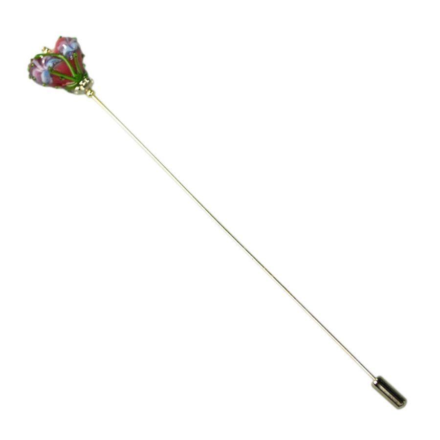 Heart Hat Pin: Lampwork Heart Hat Pin Hat Pins