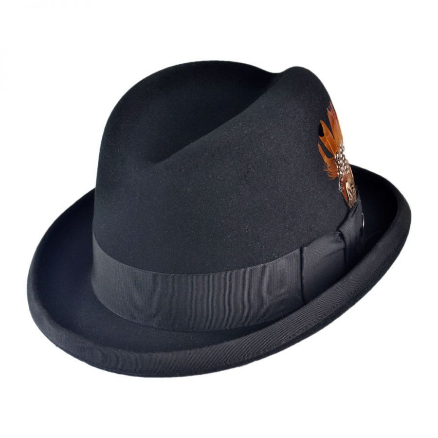 Stetson Fur Felt Homburg Hat All Fedoras 086607ca9c1