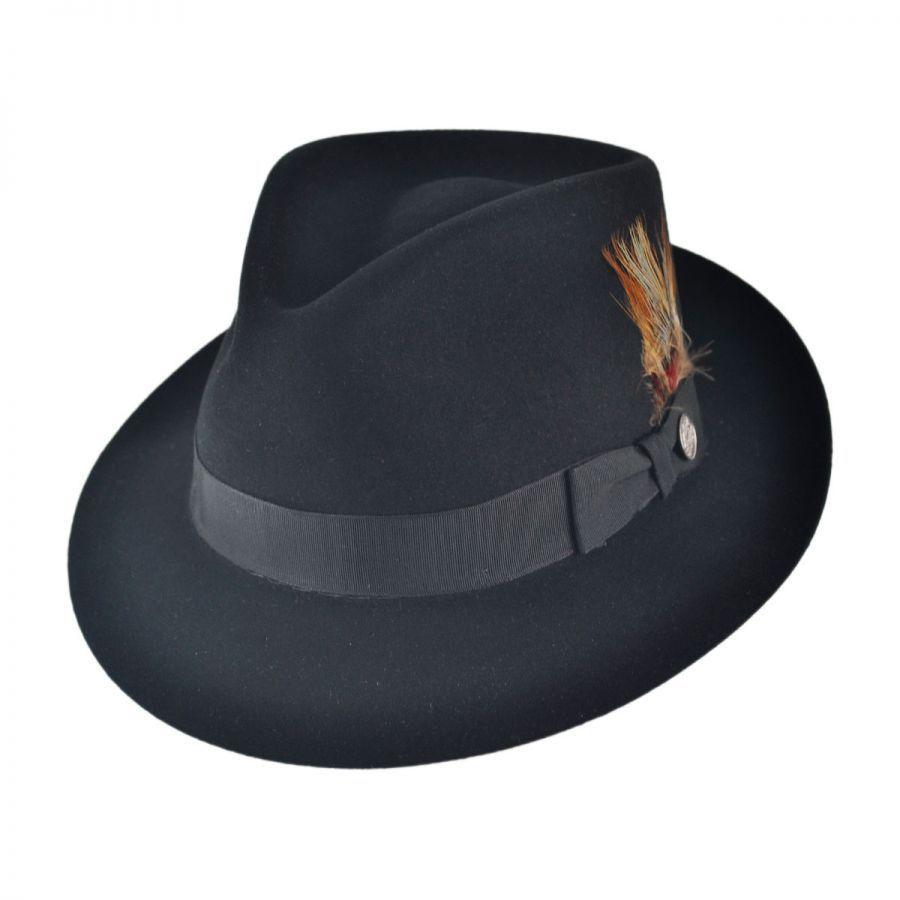 8b62a3f5ff8 Stetson Benchley Beaver Fur Felt Fedora Hat All Fedoras