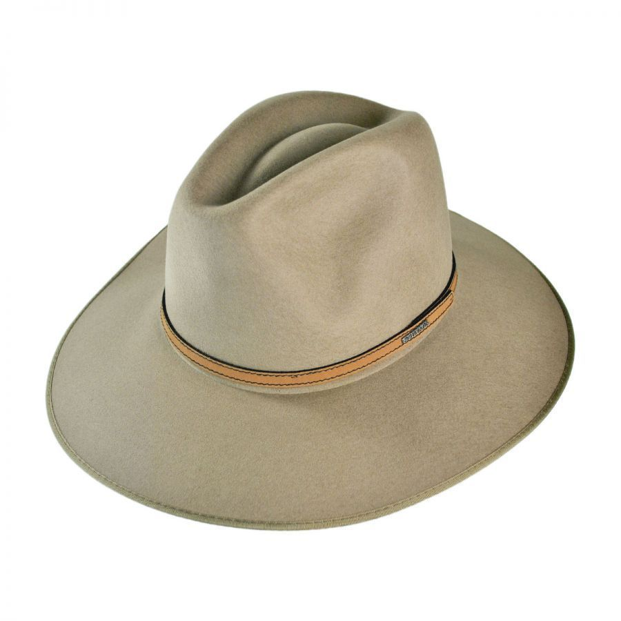dd12b56944e Stetson Spencer Crushable Wool Felt Aussie Hat All Fedoras