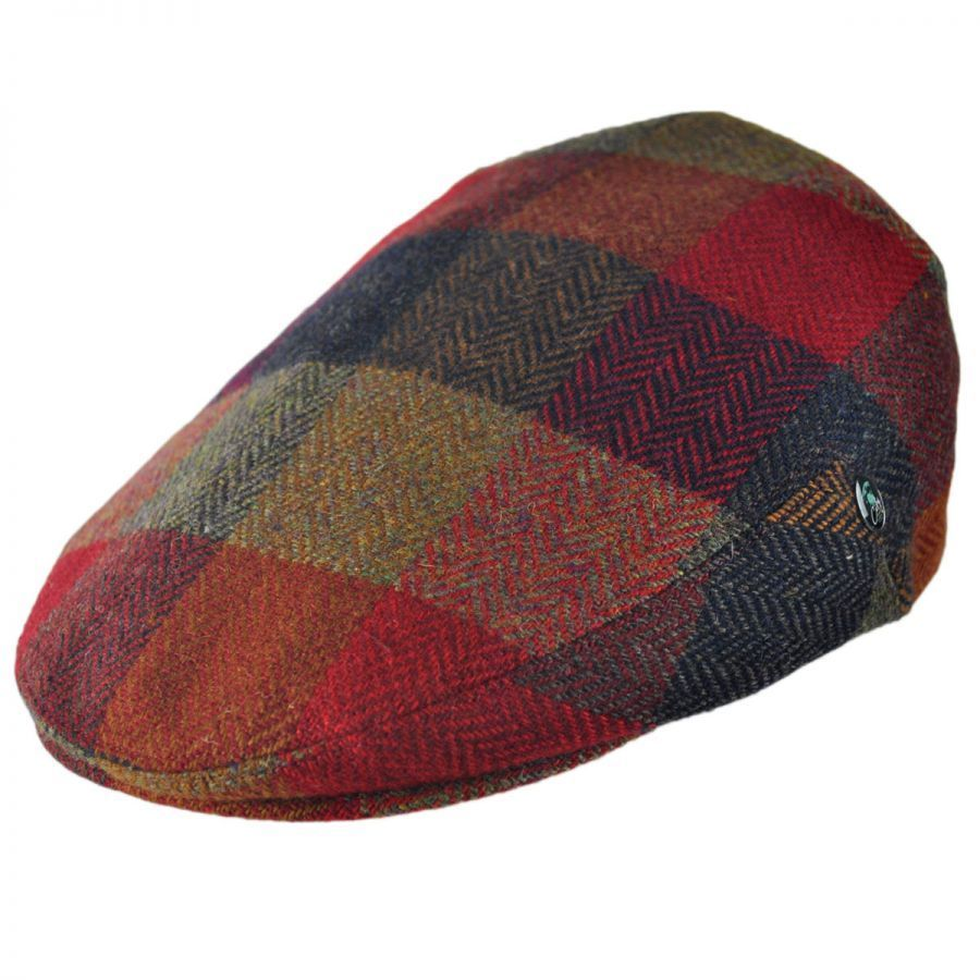1470fef6017 City Sport Caps Herringbone Squares Donegal Tweed Wool Ivy Cap Flat ...