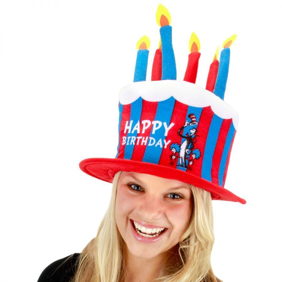 Dr. Seuss Cat In The Hat Birthday Cake Hat Novelty Hats