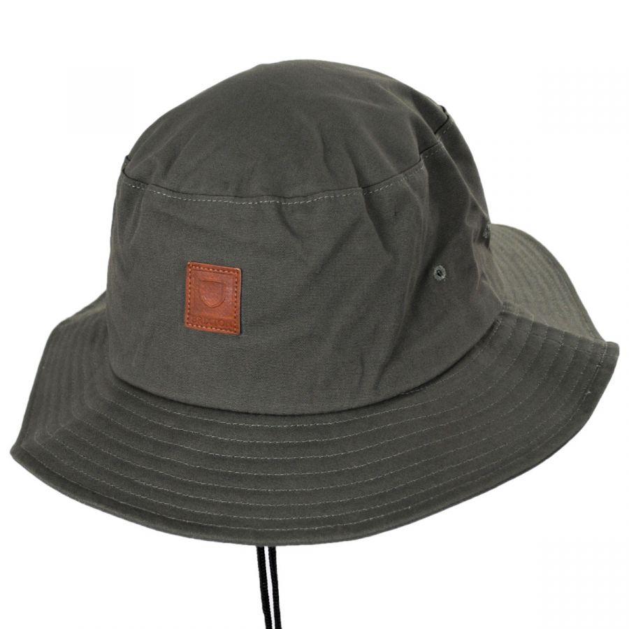 O//S Brixton Mens Bucket Hat Grey//Black