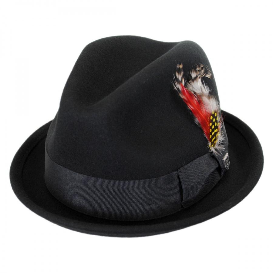 Brixton Hats Gain Wool Felt Fedora Hat Stingy Brim   Trilby b6f9d0b0517