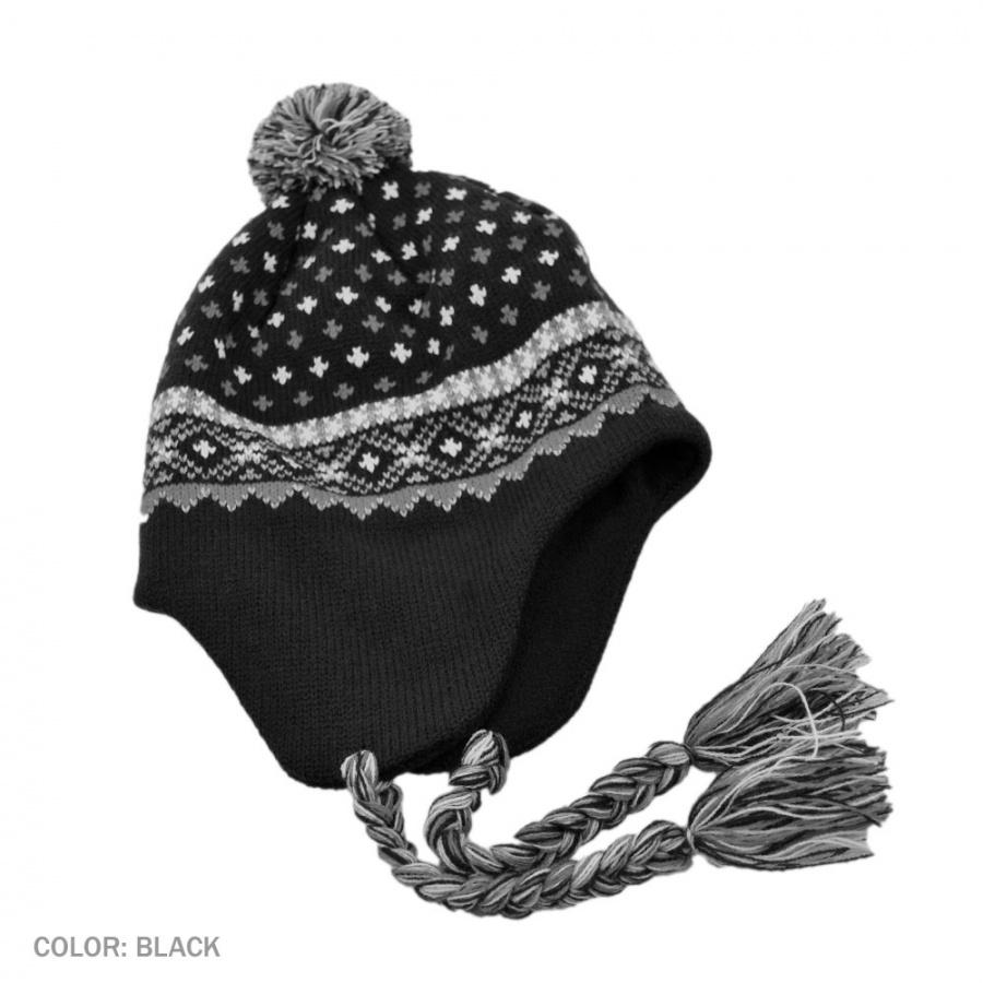 B2B Jaxon El Toro Peruvian Beanie Hat (Black) Beanies 2517138a12f