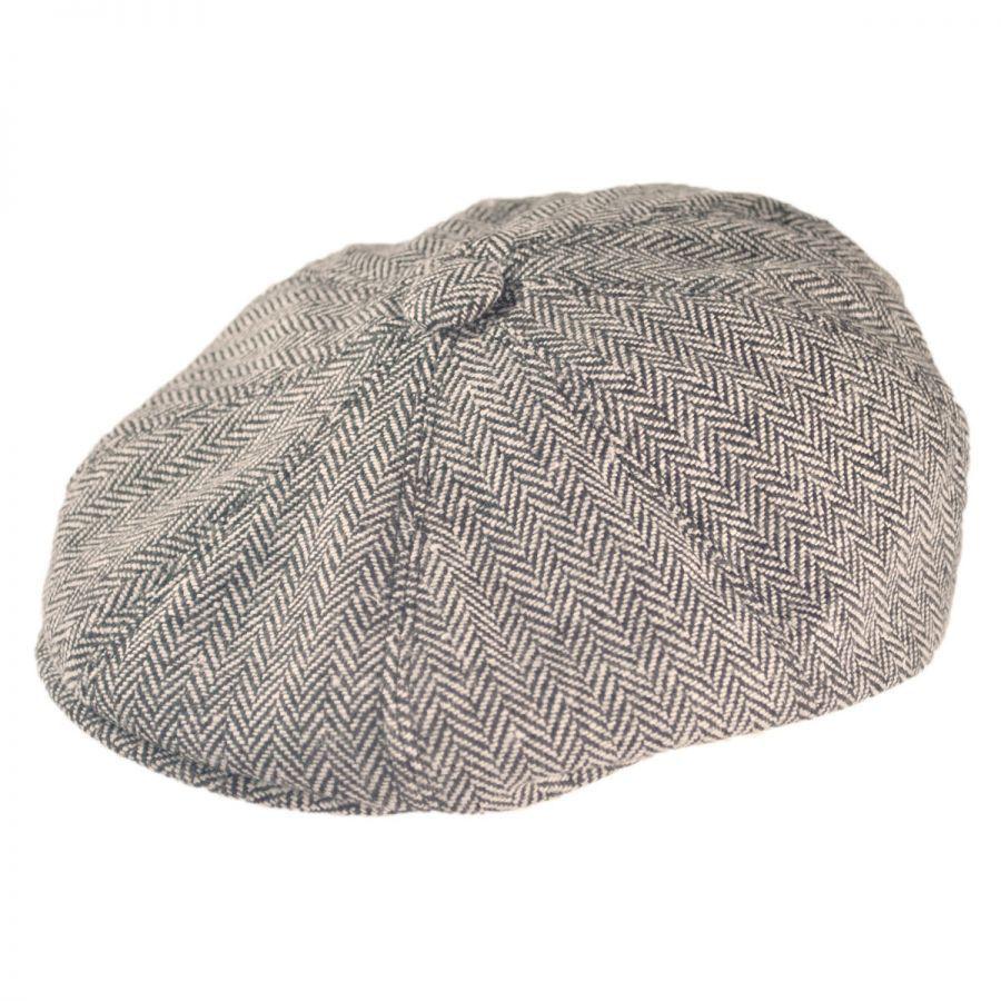 448d84b0618 B2B Jaxon Herringbone Wool Blend Newsboy Cap Flat Caps