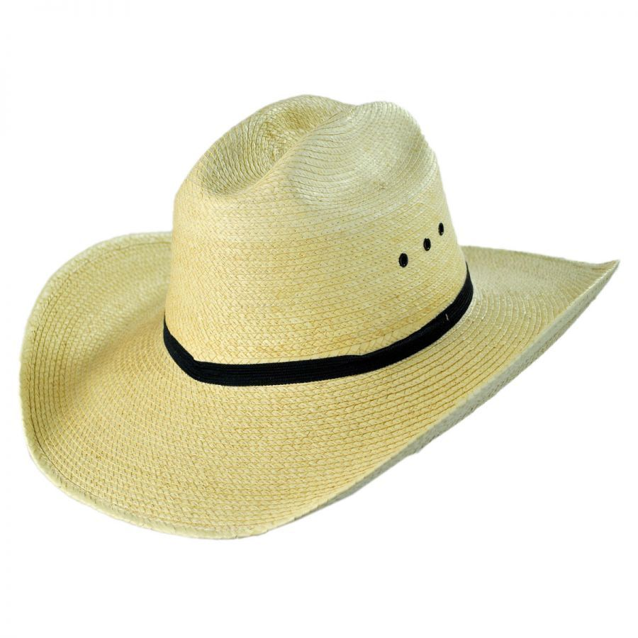 9b9dc8aea2bb2 SunBody Hats Cattleman Guatemalan Palm Leaf Straw Hat Hat Sizes  Vintage ...