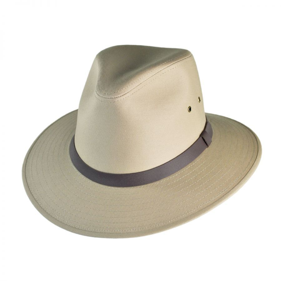 39a4250f8e8 Jaxon Hats Cotton Safari Fedora Hat All Fedoras