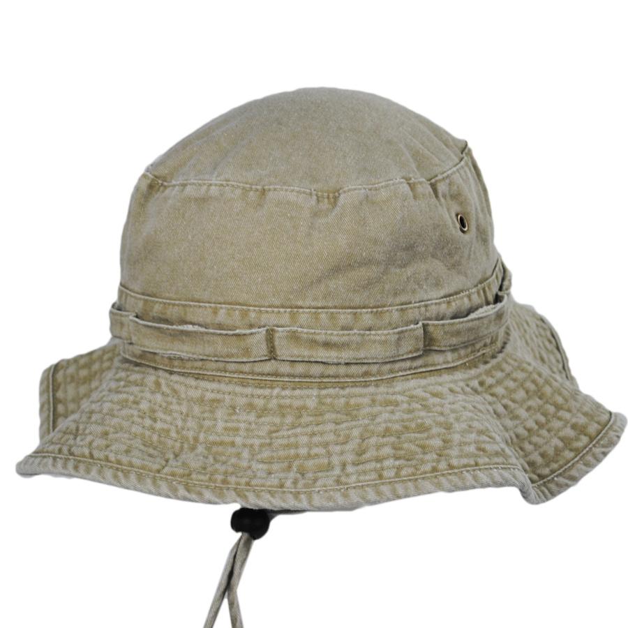 Village Hat Shop VHS Cotton Booney Hat - Khaki Bucket Hats 54a634f124d