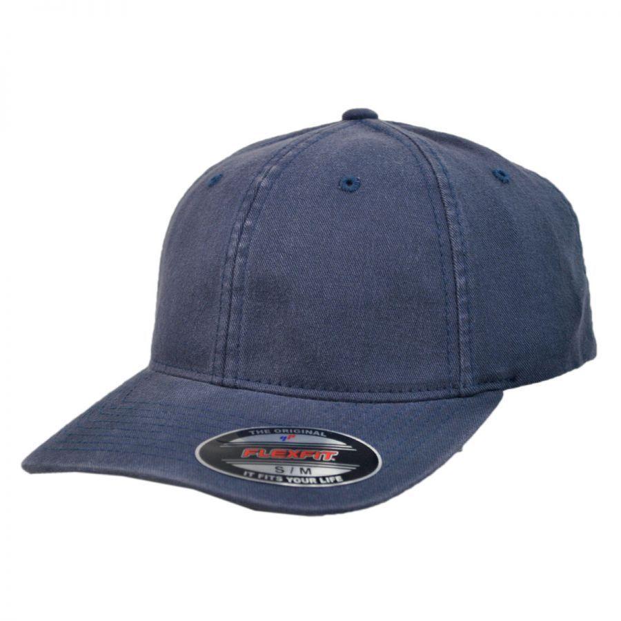 73de9e4f199e60 Garment Washed Twill LoPro FlexFit Fitted Baseball Cap alternate view 4