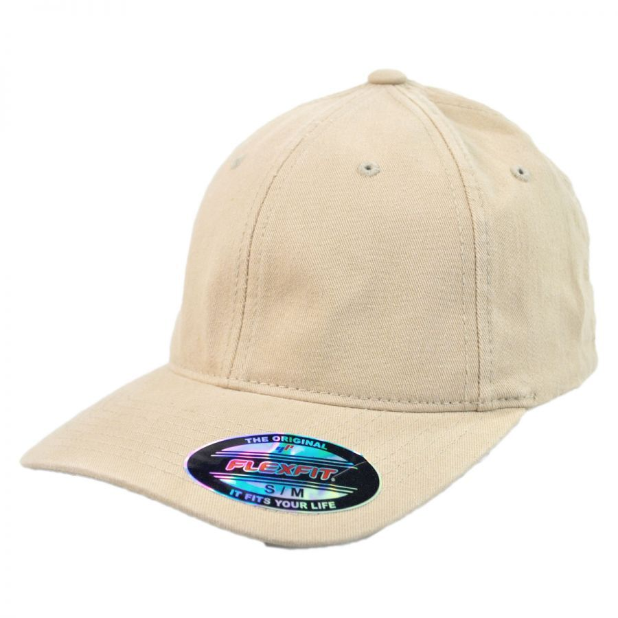 Flexfit Garment Washed Twill LoPro FlexFit Fitted Baseball Cap All ...