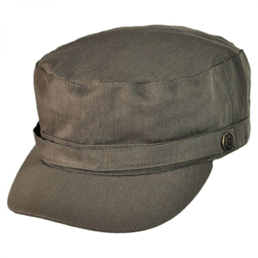 Jaxon Hats Herringbone Cotton Cadet Cap Cadet Caps e5e642f79b1
