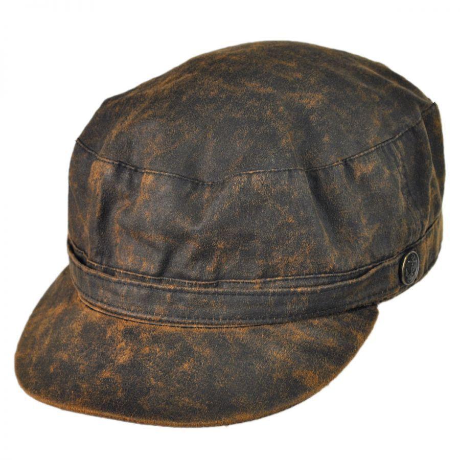 Jaxon Hats Weathered Cotton Army Cap Cadet Caps