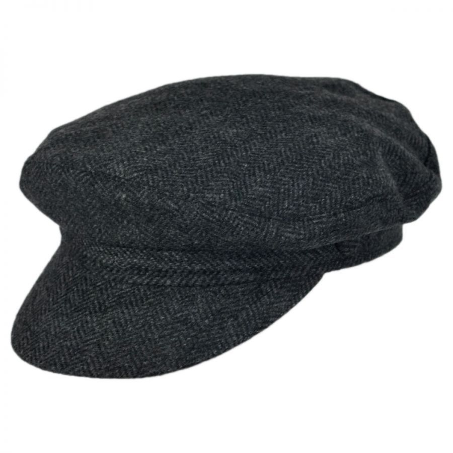 195110e605d Jaxon Hats Herringbone Wool Blend Fiddler s Cap Greek Fisherman Caps