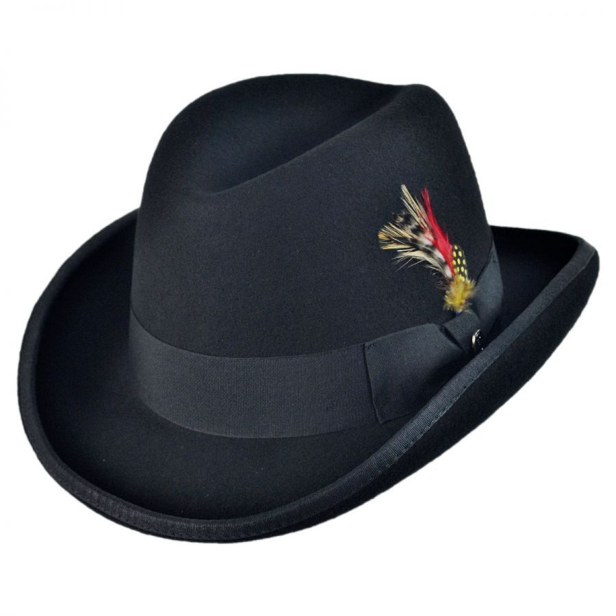 Jaxon Hats Wool Felt Homburg Hat Derby   Bowler Hats ca0ebe30c512