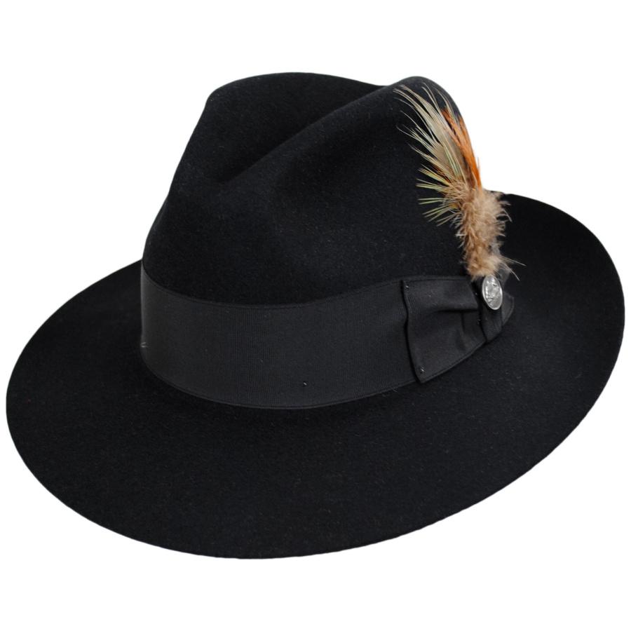 Stetson Temple Fur Felt Fedora Hat All Fedoras adf67221b79