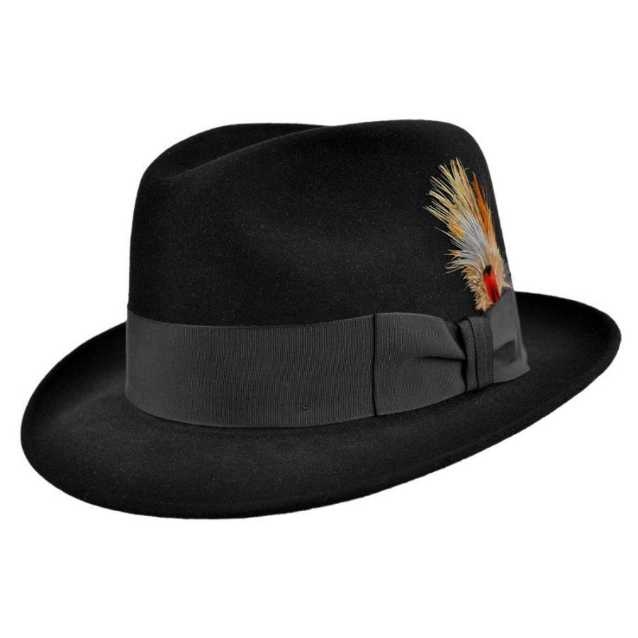 Stetson Saxon Royal Fur Felt Fedora Hat Fur Felt 682cea76ade