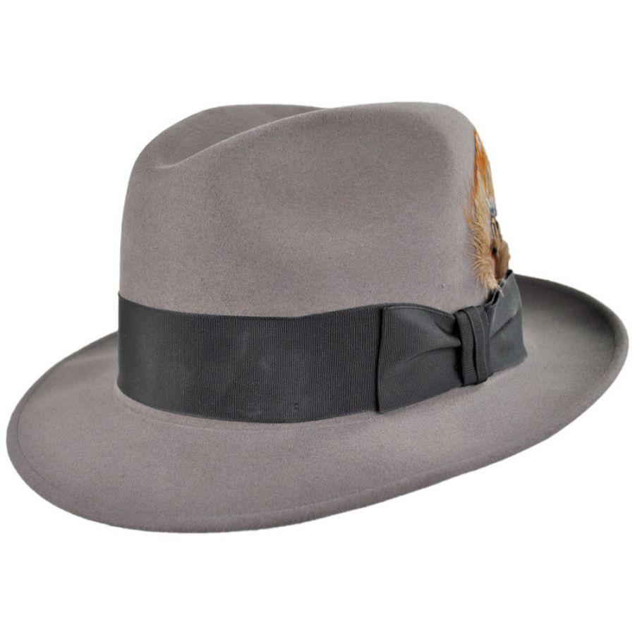 Pork Pie Hat Vs Fedora: Stetson Saxon Royal Fur Felt Fedora Hat All Fedoras