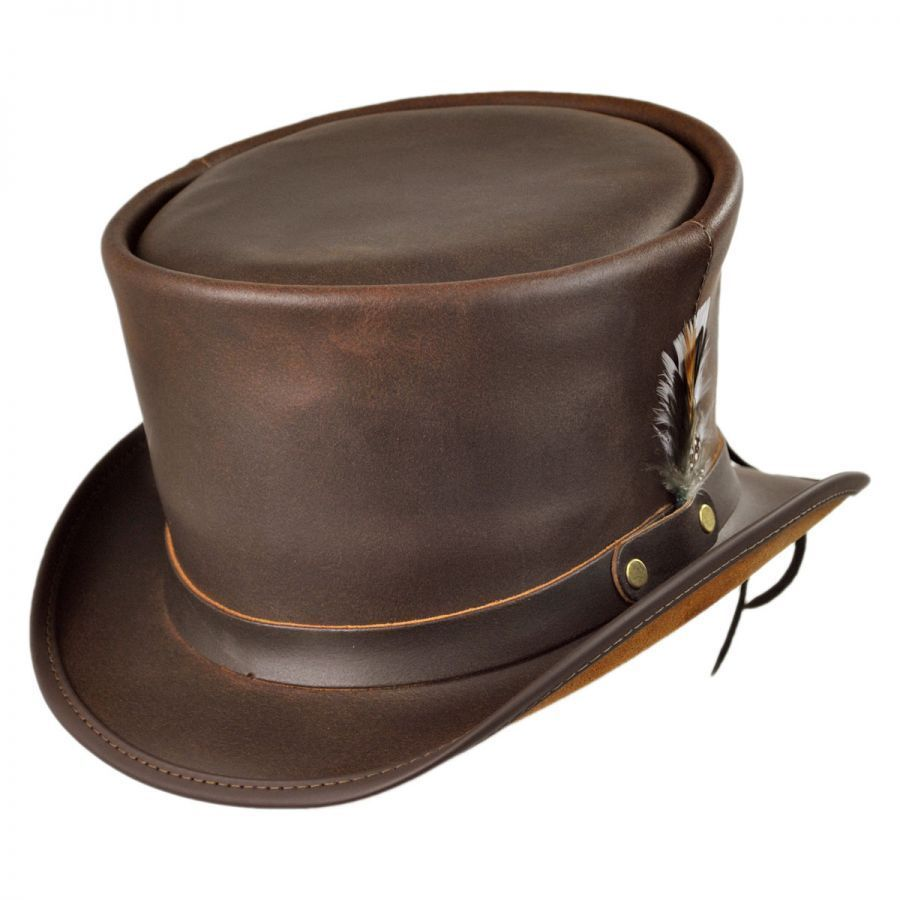 Head  N Home Coachman Brown Leather Top Hat Top Hats e137d367d10