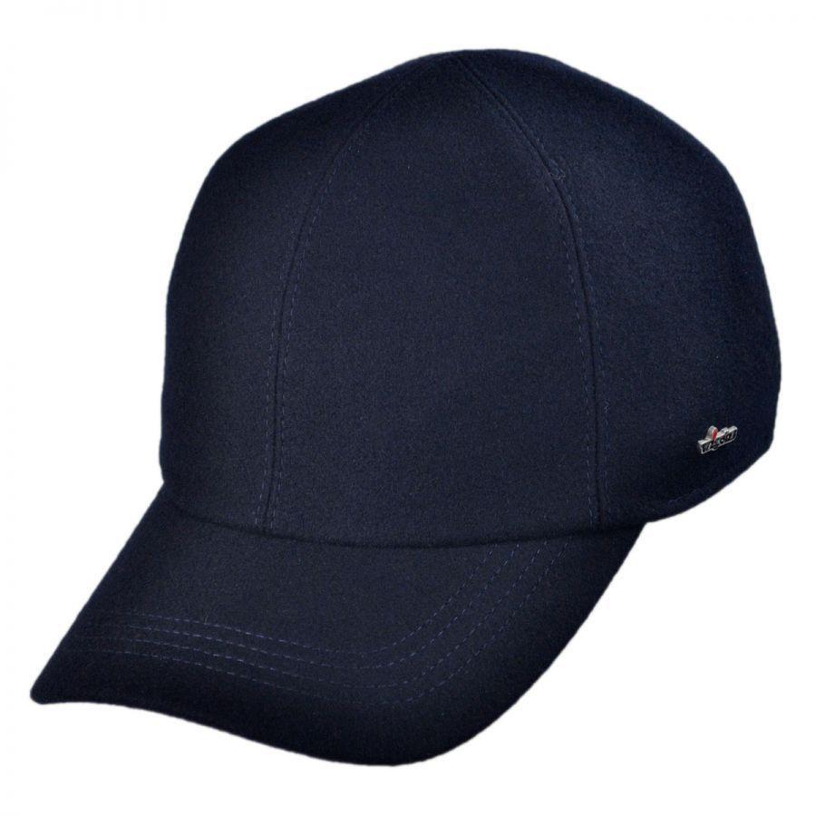 wigens caps melton wool baseball cap with earflaps big