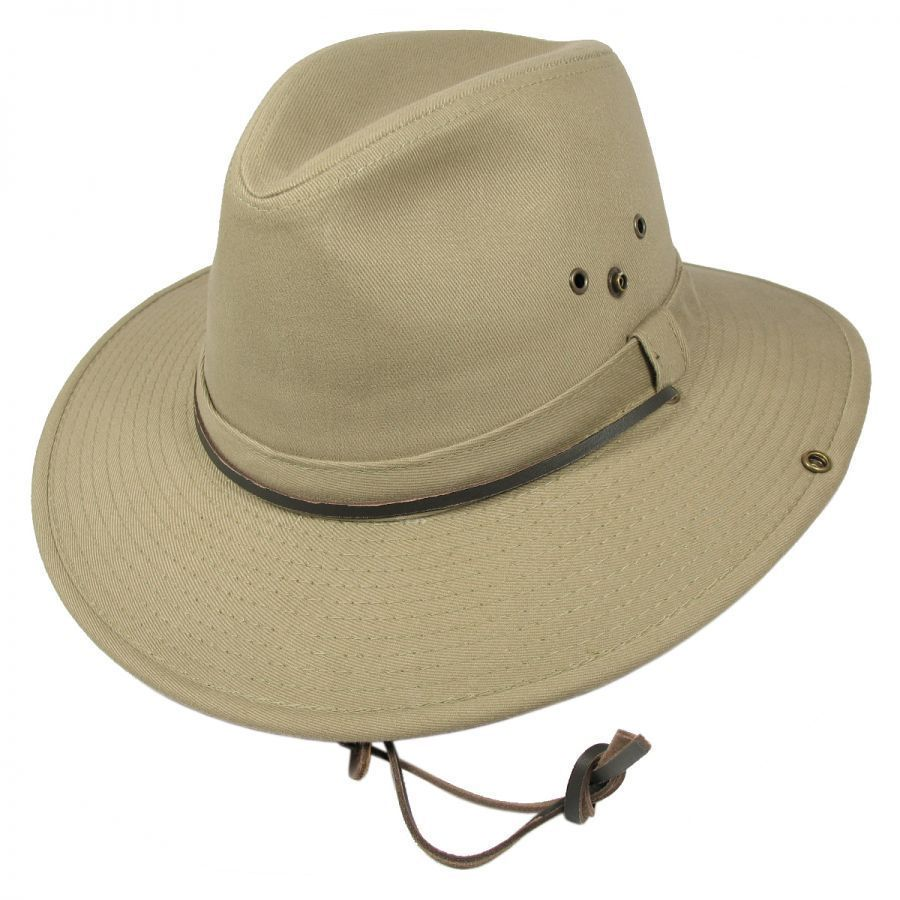 Dorfman Pacific Company Chincord Cotton Aussie Hat Sun Protection 8fa8300653