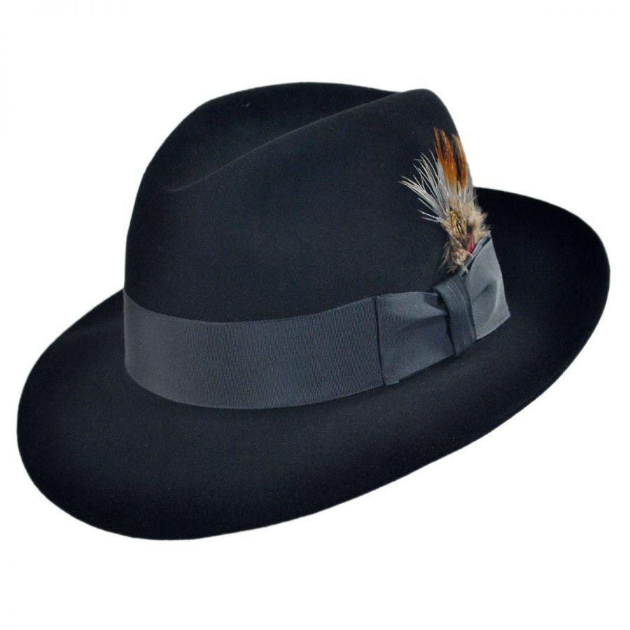 adfb67bbe4e50 Stetson Pinnacle Beaver Fur Felt Fedora Hat All Fedoras