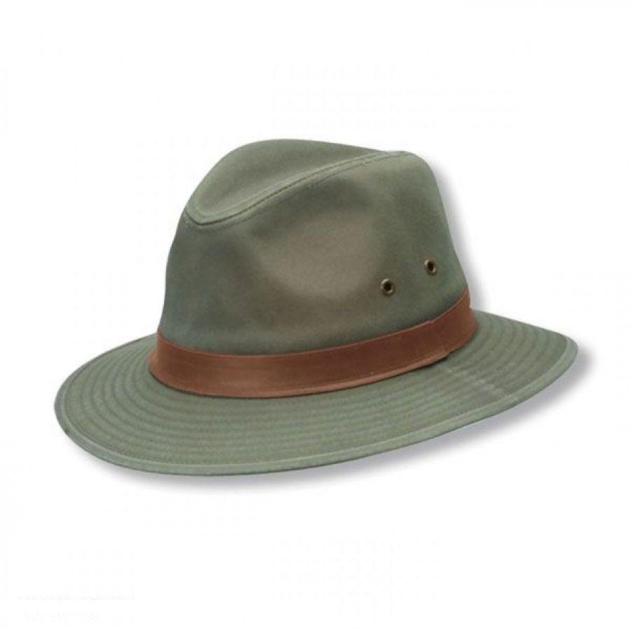 28b19fda Dorfman Pacific Company Packable Cotton Twill Safari Fedora Hat All Fedoras