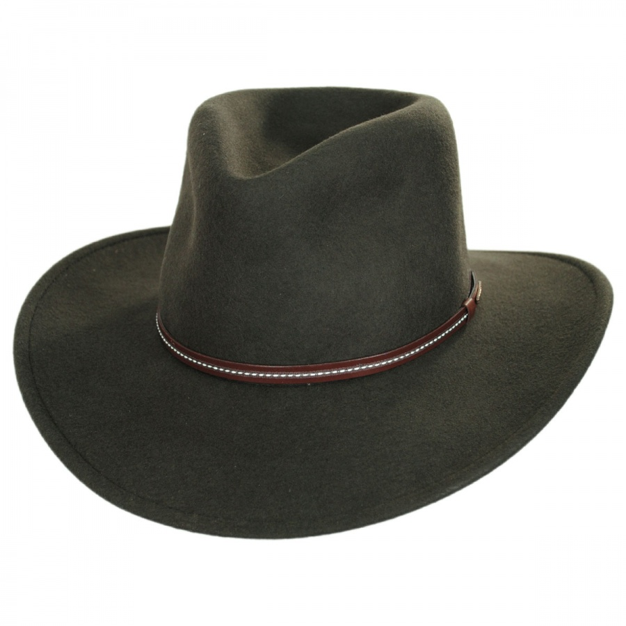 17e585d7c00ff Stetson Gallatin Crushable Wool Felt Outback Hat Crushable