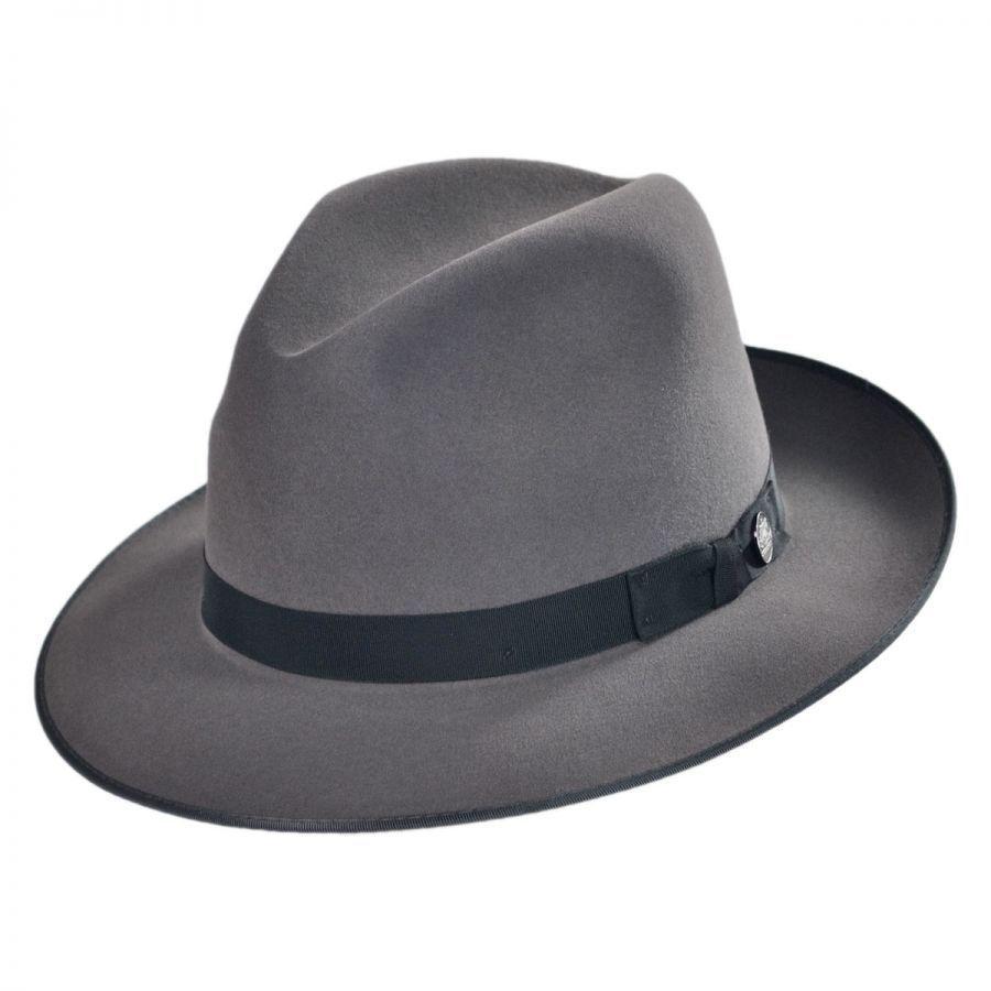 Stetson Runabout Packable Fur Felt Fedora Hat Crushable 768f7ff4e92