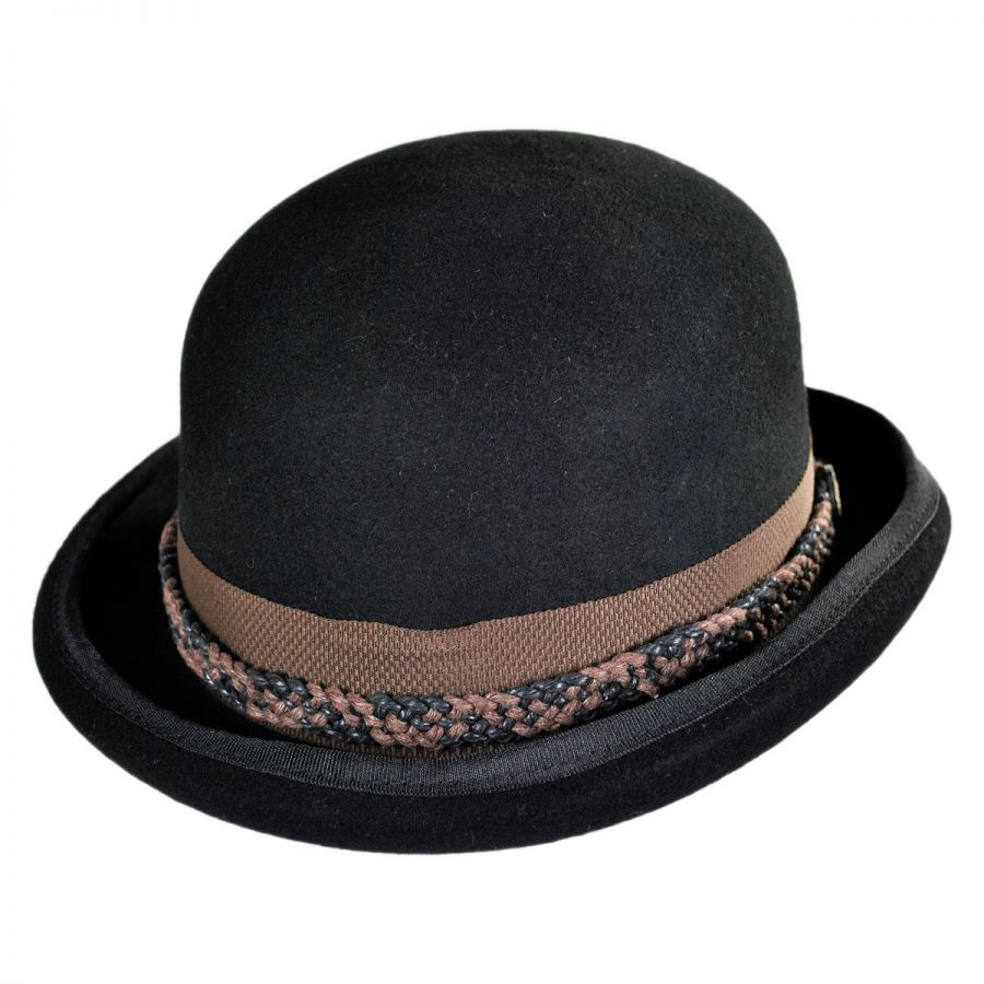 Bowler hats are quite hard and feature a felt construction with a round, dome-shaped crown. Many people in America also refer to them as Derbys. Bowler hats were a firm favorite of 19th century outlaws, including Billy the Kid and Butch Cassidy, who donned these accessories rather than Stetsons.