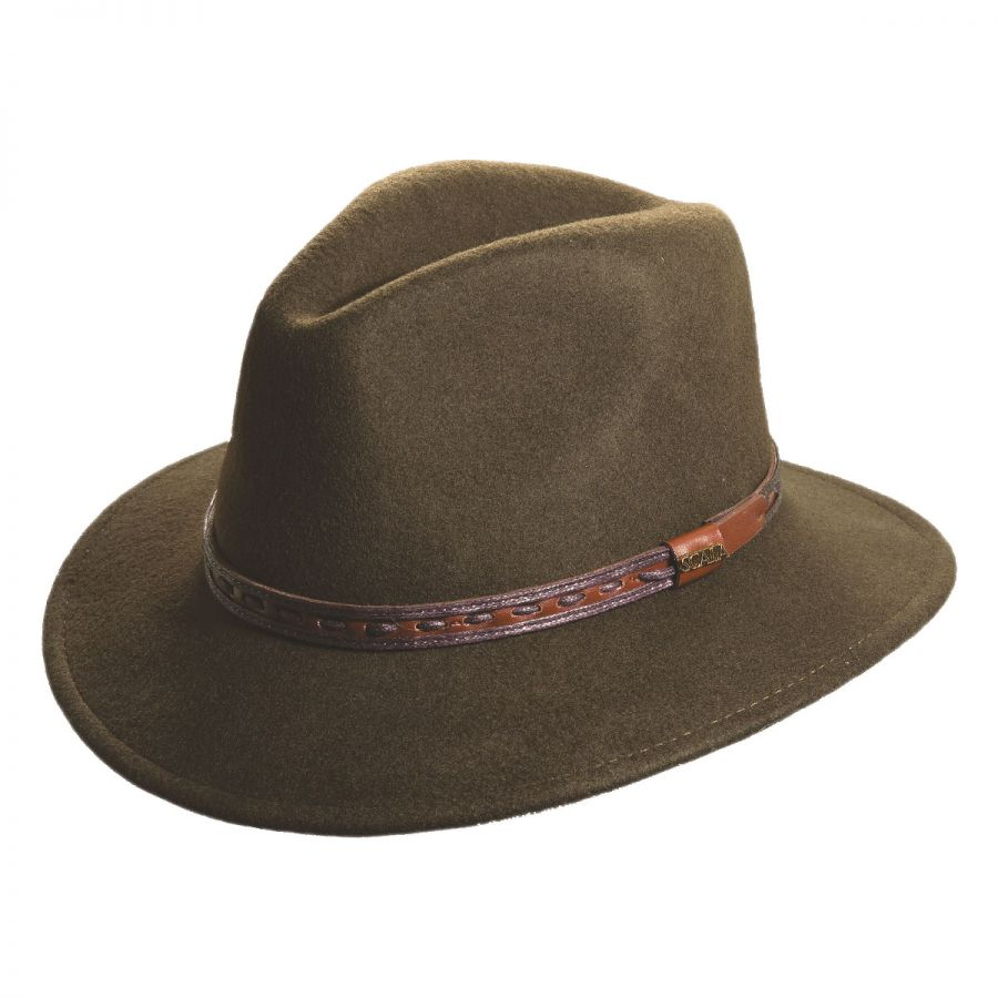 Scala Felt Safari Traveler Hat Crushable