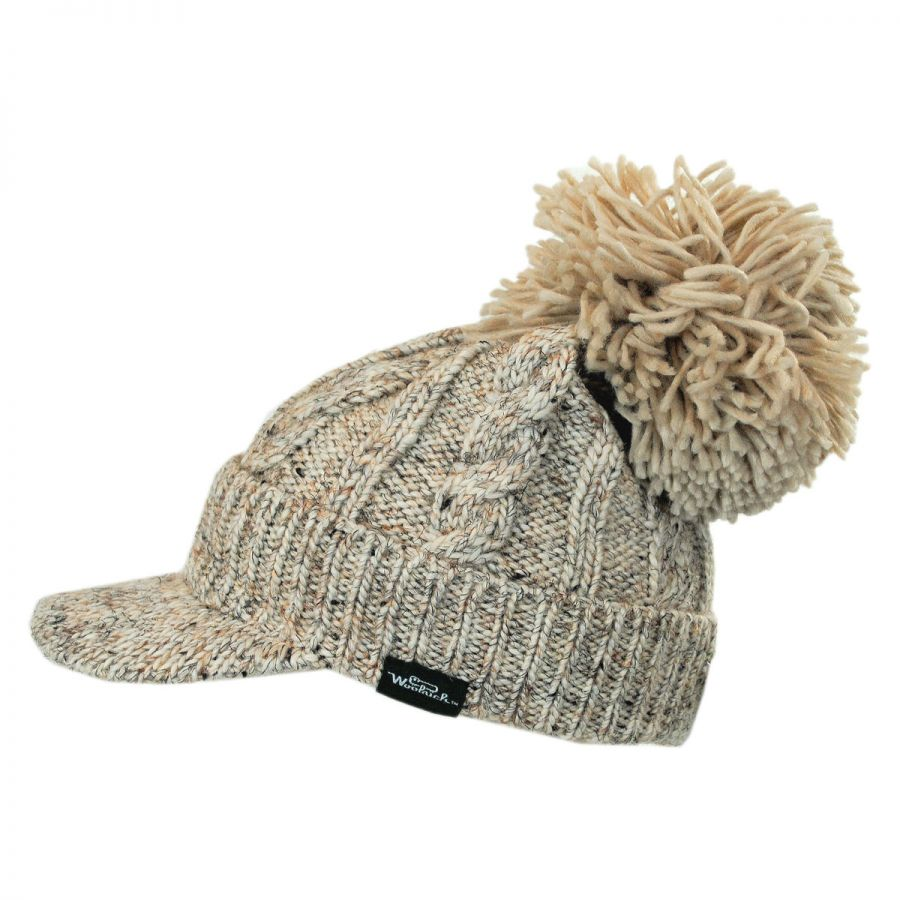 Woolrich Chunky Knit Slouch Beanie Casual Hats
