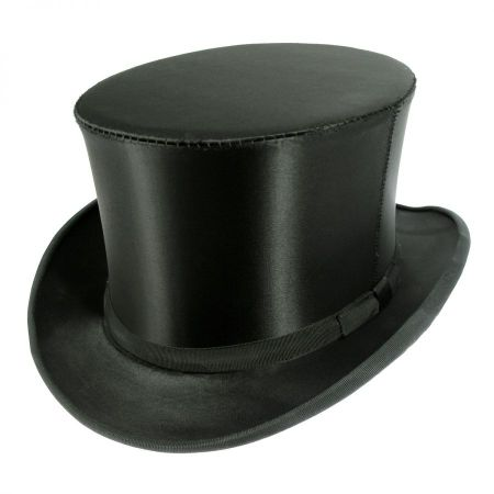 Satin Collapsible Opera Top Hat