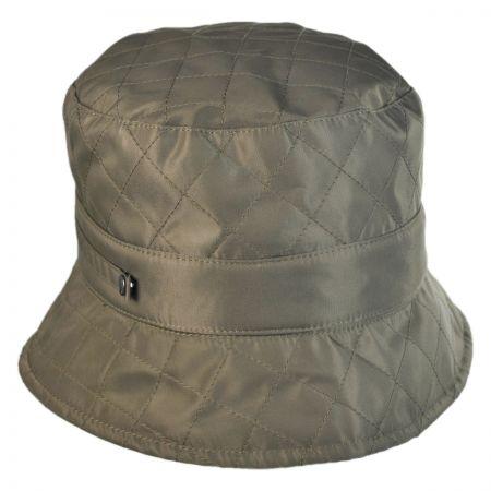 Quilted Nylon Rain Bucket Hat