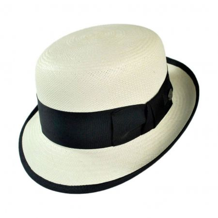 Chaplin Panama Straw Bowler Hat