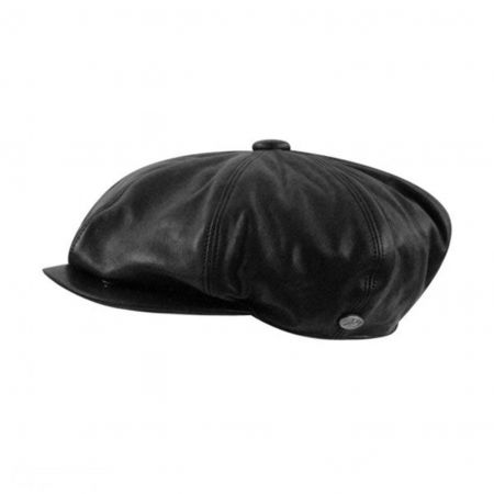 Bailey Noclin Leather Newsboy Cap