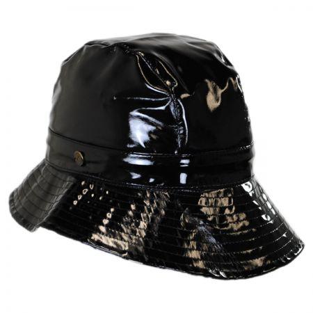Karen Kane Patent Rain Trilby Hat