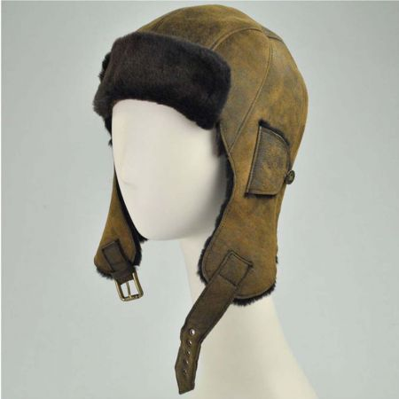 Bailey Kodiak Leather Trapper Hat