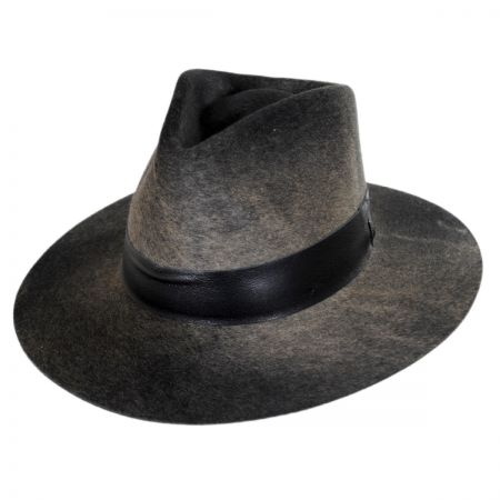 Bailey Hillman Wool Felt and Leather Fedora Hat