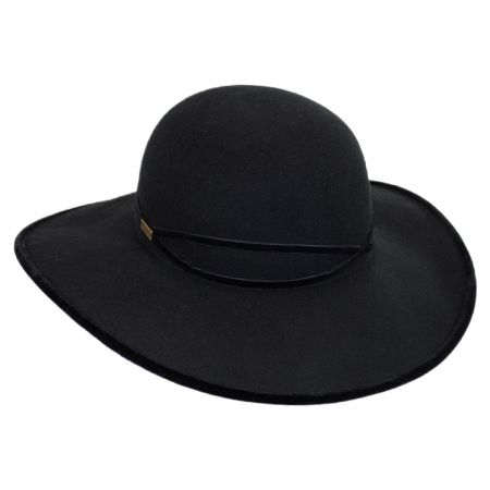 Betmar Marseille Wool and Velvet Swinger Hat