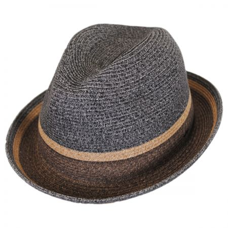 Bailey Grimet Toyo Braid Straw Trilby Fedora Hat